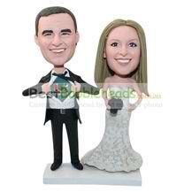 personalized custom happiness wedding bobbleheads