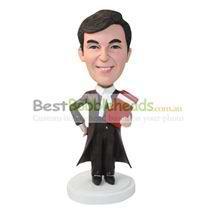 personalized custom man in a black windbreaker bobbleheads