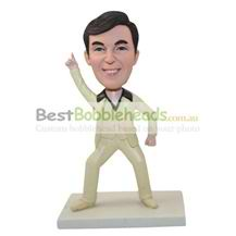 personalized custom man in a khaki suit bobbleheads