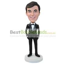 personalized custom man in a suit and tie bobbleheads