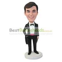 personalized custom man in a tuxedo bobbleheads