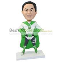 unique custom-built Green Lantern bobblehead
