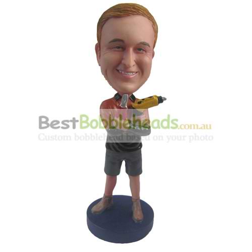 custom the man is a decoration workers bobbleheads